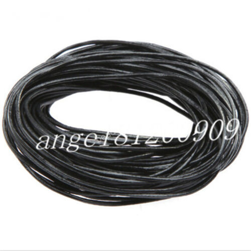 Genuine Black Leather Cord Thread For Necklace Bracelet Jewelry Making 10//100M