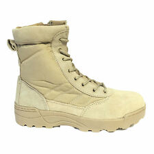 Mens Lace Up Desert Boots Ankle Combat Army Military Walking Hiking UK SIZE 9
