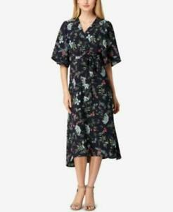 Elie Tahari Womens Blue Kimono Floral Belt Midi Dress  $138 {&}