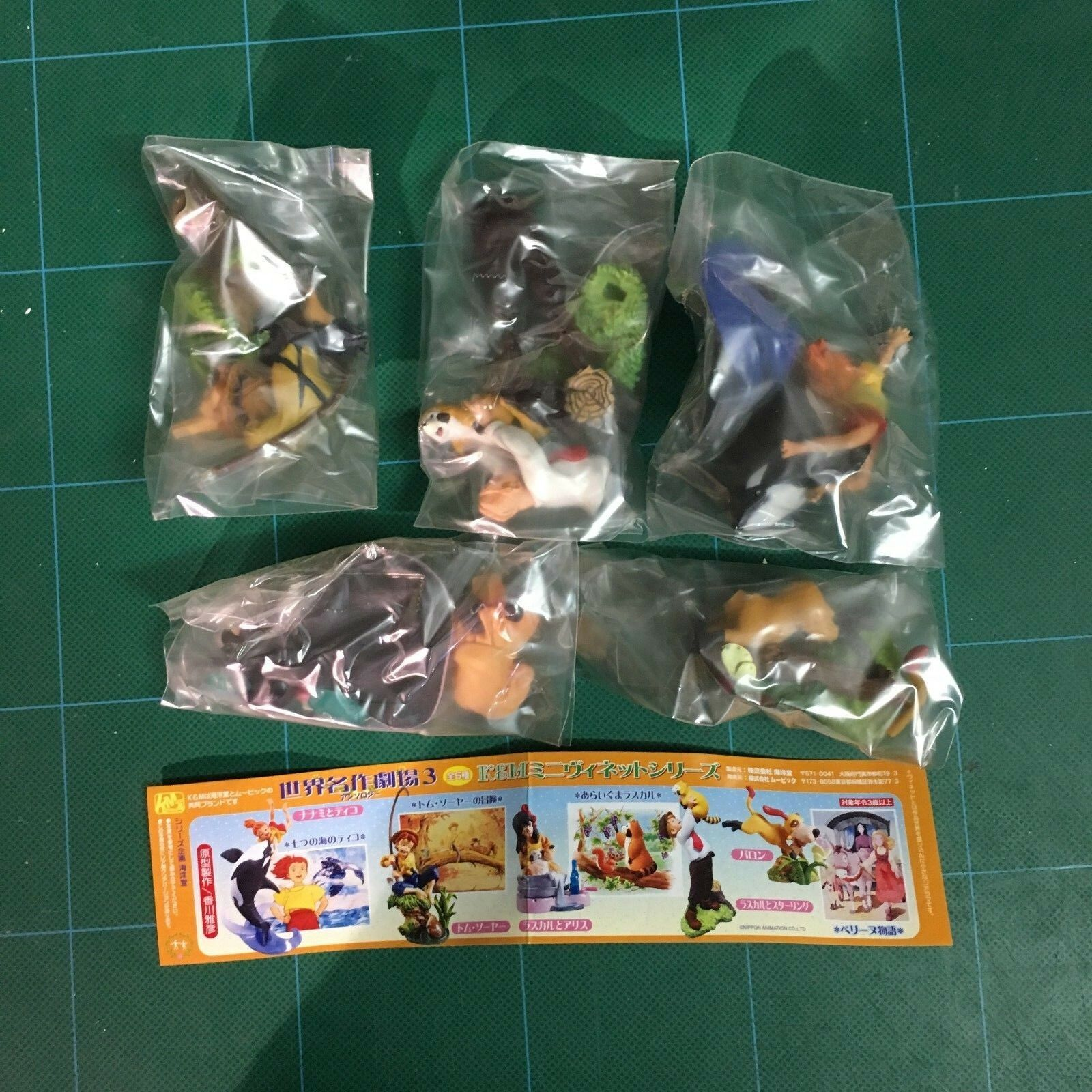 K&M MINI VIGNETTE SERIES 3  Anime Manga GASHAPON MINI FIGURE set completo 5 pz.