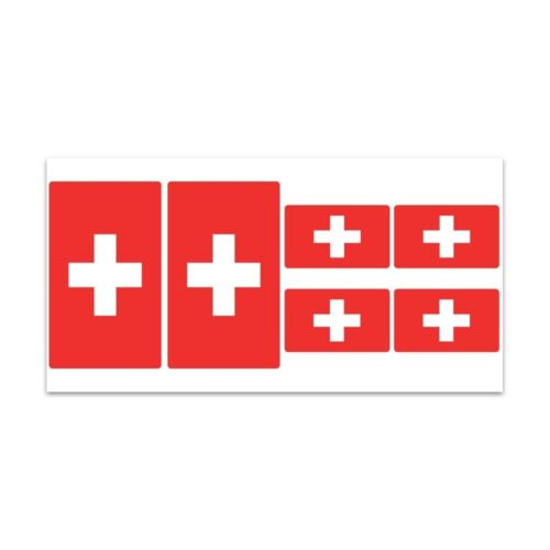 Z296 Planche de stickers Drapeau Suisse
