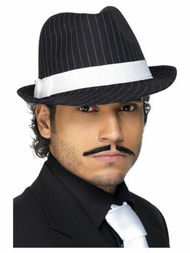 Men/'s Al Capone Deluxe Fancy Dress Gangster Pinstripe Hat Micheal Jackson Style