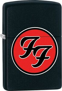 Zippo-Foo-Fighters-Album-Cover-Circle-Motif-Interlocking-039-Fs-039-Black-Matte-29477