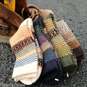New-4-Pairs-Mens-Wool-Mixture-Angora-Cashmere-Warm-Soft-Thick-Casual-Dress-Socks
