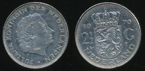 Netherlands-Kingdom-Juliana-1970-2-1-2-Gulden-Very-Fine
