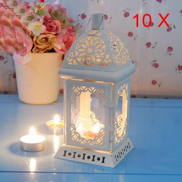 10 X European Mediterranean Hanging Hollow Pastoral Home Candle Holder/Lantern