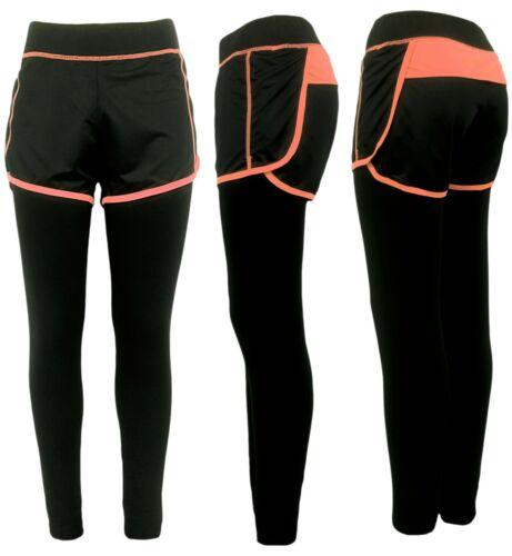 Leggings Shorts Damen 2er Set Sport Tights Fitness Leggings Gymnastik Sport