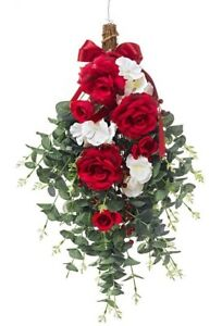 schoenes-Rosenbouquet-Rose-Rosengesteck-56-cm-Deko-Grabschmuck-Grableger-x