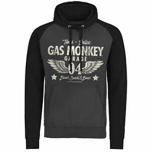 Garage Hoodie Gris oscuro Oficialmente Baseball Monkey negro wings xxl Gas autorizado S Tamaos 04 xxtP0H7