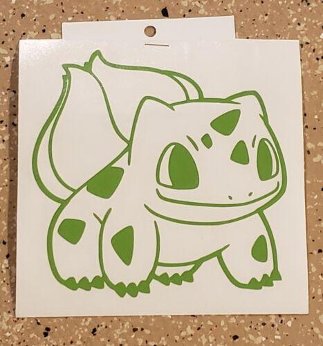 """Handcrafted Pokemon Bulbasaur green Vinyl Decal Indoor//Outdoor NEW 5/"""""""
