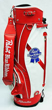 NEW RETRO PABST BLUE RIBBON PBR BEER LEATHER GOLF STAND BAG SIGN MAN CAVE BAR