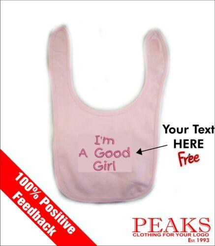 Premium Personnalisé Enfants boy girl bavoir bébé tout-petit cadeau ** texte libre **