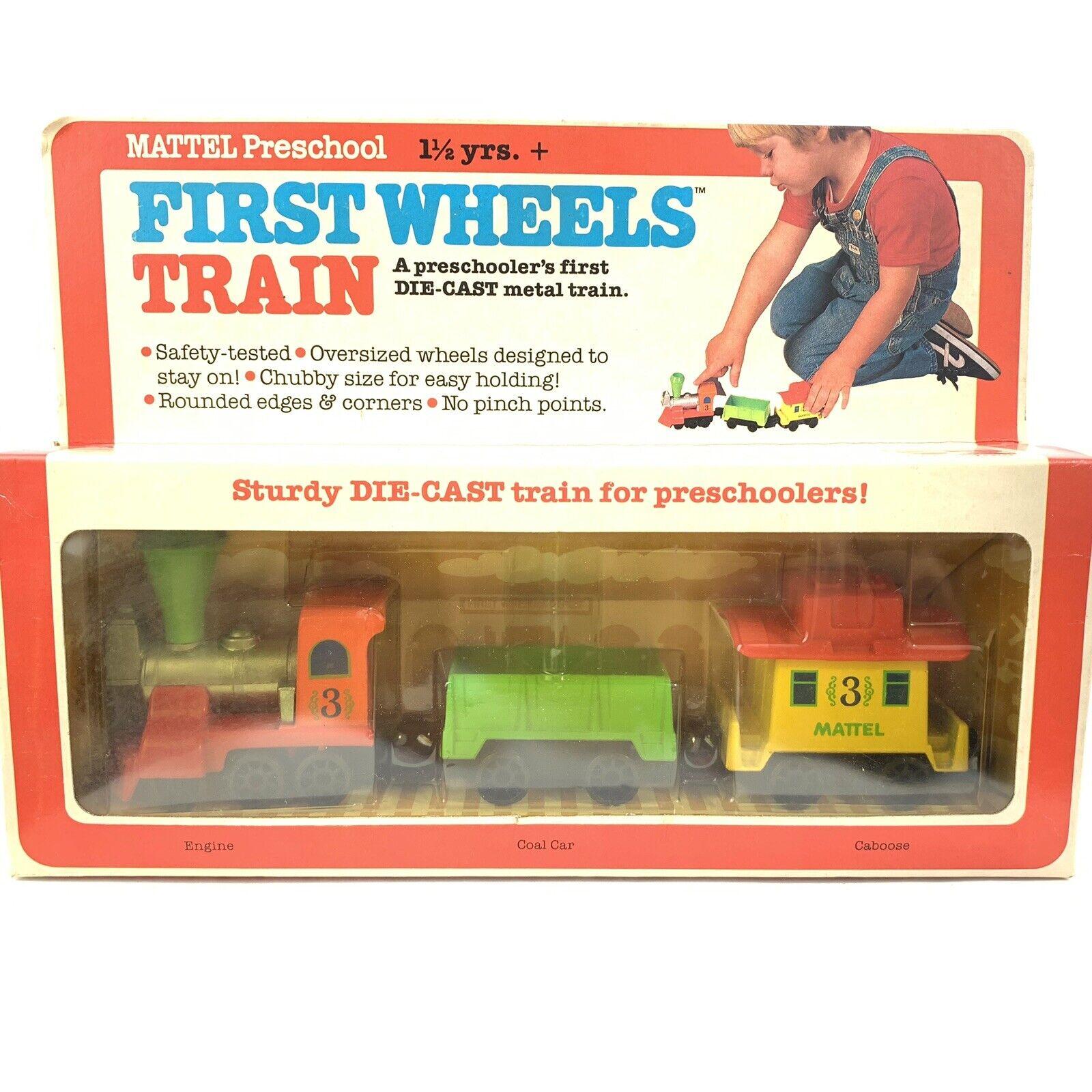 Mattel Preschool First Wheels Train Nos In Box Die Cast Train Set Vtg 1980