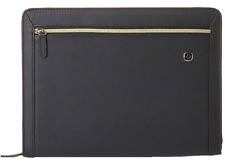 Wenger Swiss The Amelie Black Zip Padfolio Business Organizer Tablet New Lk