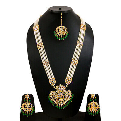 With Earrings German silver Bahubali Kolhapuri Necklace Set with Studs glass enamel work boho gypsy necklace multistrand necklace set