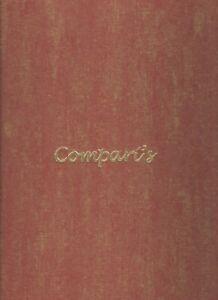 "Older Restaurant Menu - COMPARI'S - 15"" X 9""-Nice Condition"
