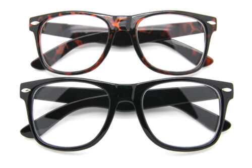 Clear Lens Retro Style Eyeglasses Men Women Fashion Square Frame Glasses