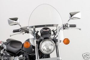 Details About Yamaha V Star 650 1100 Classic Custom Small 14 Clear Mini Police Windshield