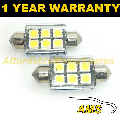 2X PINK CANBUS NUMBER PLATE INTERIOR SMD LED BULBS 30 36 39 42 44MM FESTOON OC