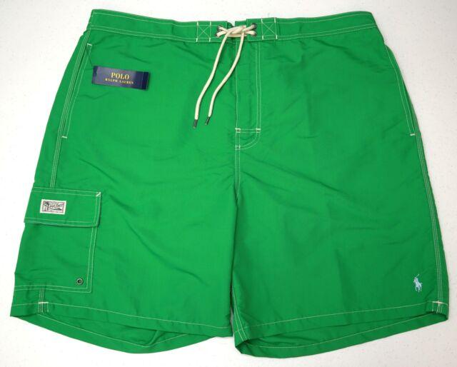 83ec53d9ed NWT $75 Polo Ralph Lauren Board Shorts Green Swim Suit Mens Size 2XB Logo  NEW