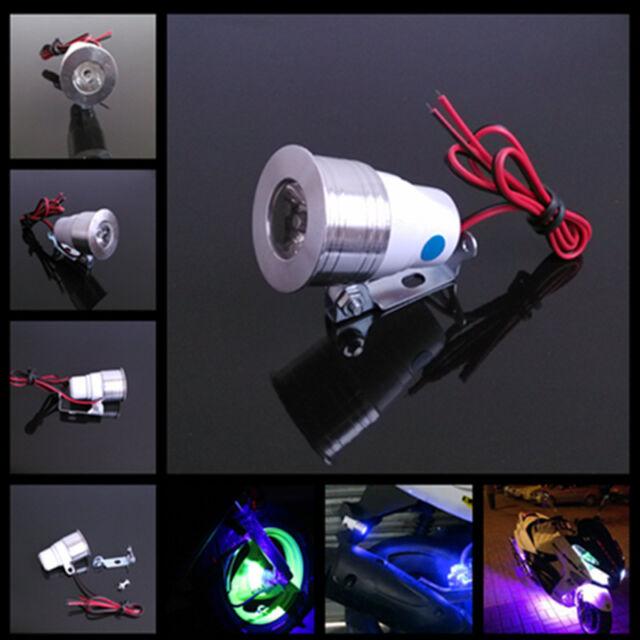 12V Motorcycle Blue LED Strobe Flash Warning Signal Spot Light Lamp For Suzuki