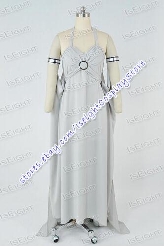 Game of Thrones Mother of Dragons Daenerys Targaryen Cosplay Costume Dress Grey