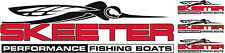 Skeeter Boat Logos Decal vinyl sticker graphic You get 4. 1 large & 3 Small