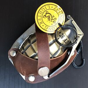 Details about Lighter Belt Buckle Gold Metal Western Fashion Weapon Army  Grenade Brown