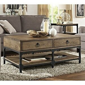 Crosley FurnitureSolid Hardwood Coffee Table in Ash Veneer FinishNew