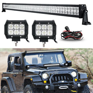 52inch 700w2x 18w led work light bar combo fit for jeep wrangler image is loading 52inch 700w 2x 18w led work light bar aloadofball Images