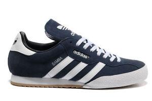 Dettagli su Adidas Originals Samba Super Suede Sneaker Uomo Scarpe Scarpe Da Ginnastica in Pelle Blu Scuro mostra il titolo originale