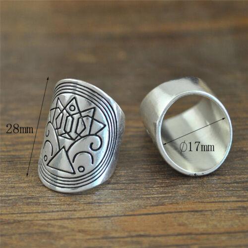 satz Boho Vintage Carving Tibetischen Silber Knuckle Ring Fingerri CBL 4 Teile