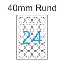100 Blatt A4 Runde Etiketten 40 Mm Aufkleber Rund Günstig