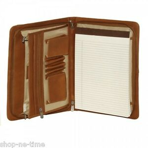 Piel Leather Three-Way Envelope Full-Grain Cowhide Saddle Leather Padfolio -New