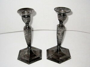 Image is loading 2-Matching-Vintage-Forbes-S-P-807-8-034- : plate candle holders - pezcame.com