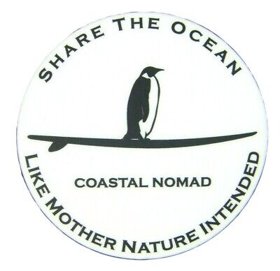 Respect ocean Coastal Nomad paddle boarding sticker Decal  surfing Sup Kayak