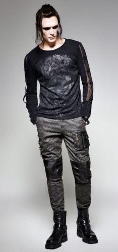 Pantalon gothique punk steampunk cuir vieilli vintage used poches Punkrave homme