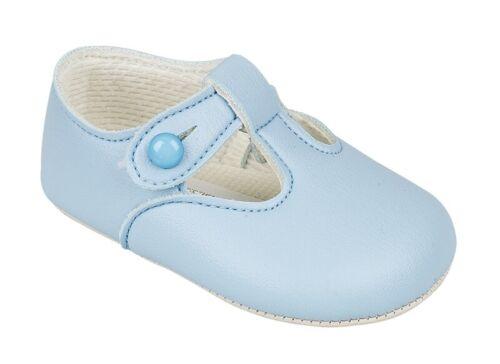 Unisex T-Bar Soft Sole Pram Shoe Christening//Everyday Wear Baypod,Traditional