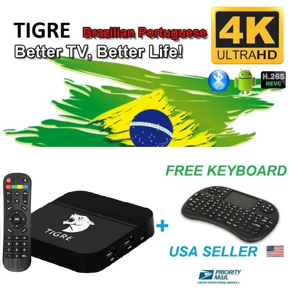 NEW TIGRE TV Box Well as HTV5 brazil live tv iptv&Portuguese drama/shows/movies Featured