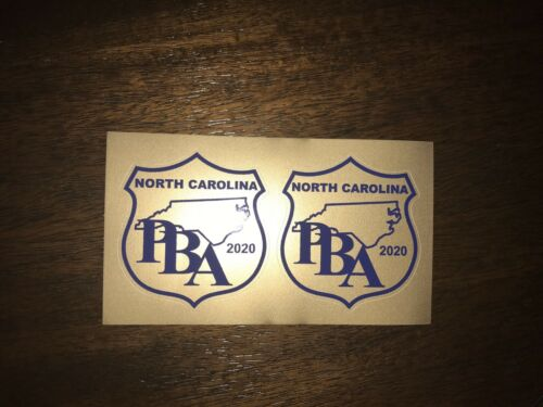 """2 For 1! FOP PBA Support 2020 NC PBA Vehicle Decals  3"""" X 3/"""" DECAL 2"""