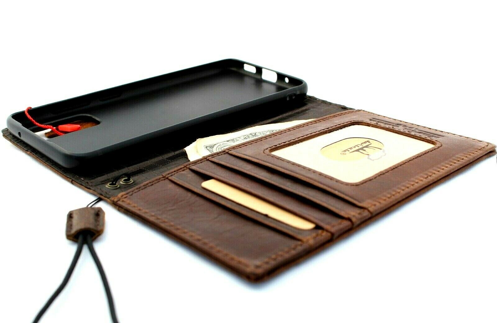 Image 11 - Genuine Vintage Leather Case for Samsung Galaxy A71 4G  Wallet Book Vintag Cover