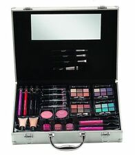 Girls Cosmetic Large Travel Vanity Beauty Make Up Case Box Gift Set 51 Piece