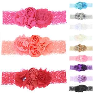 Baby-Headband-Lace-Flower-Pearl-Girls-Newborn-Toddler-Hair-Band-Christening-Wear