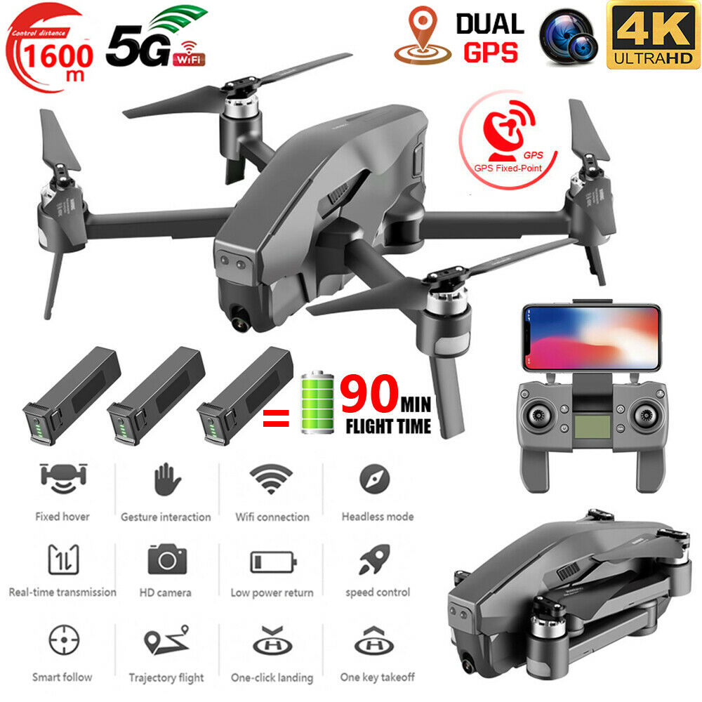 4DRC GPS Drone With 5G Wifi FPV 4K HD Camera Brushless RC Quadcopter Drone NE