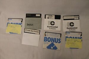 Lot-of-8-Atari-5-25-034-Floppy-Disk-Home-Accounting-Tax-GT-Estate-Networth-Indus
