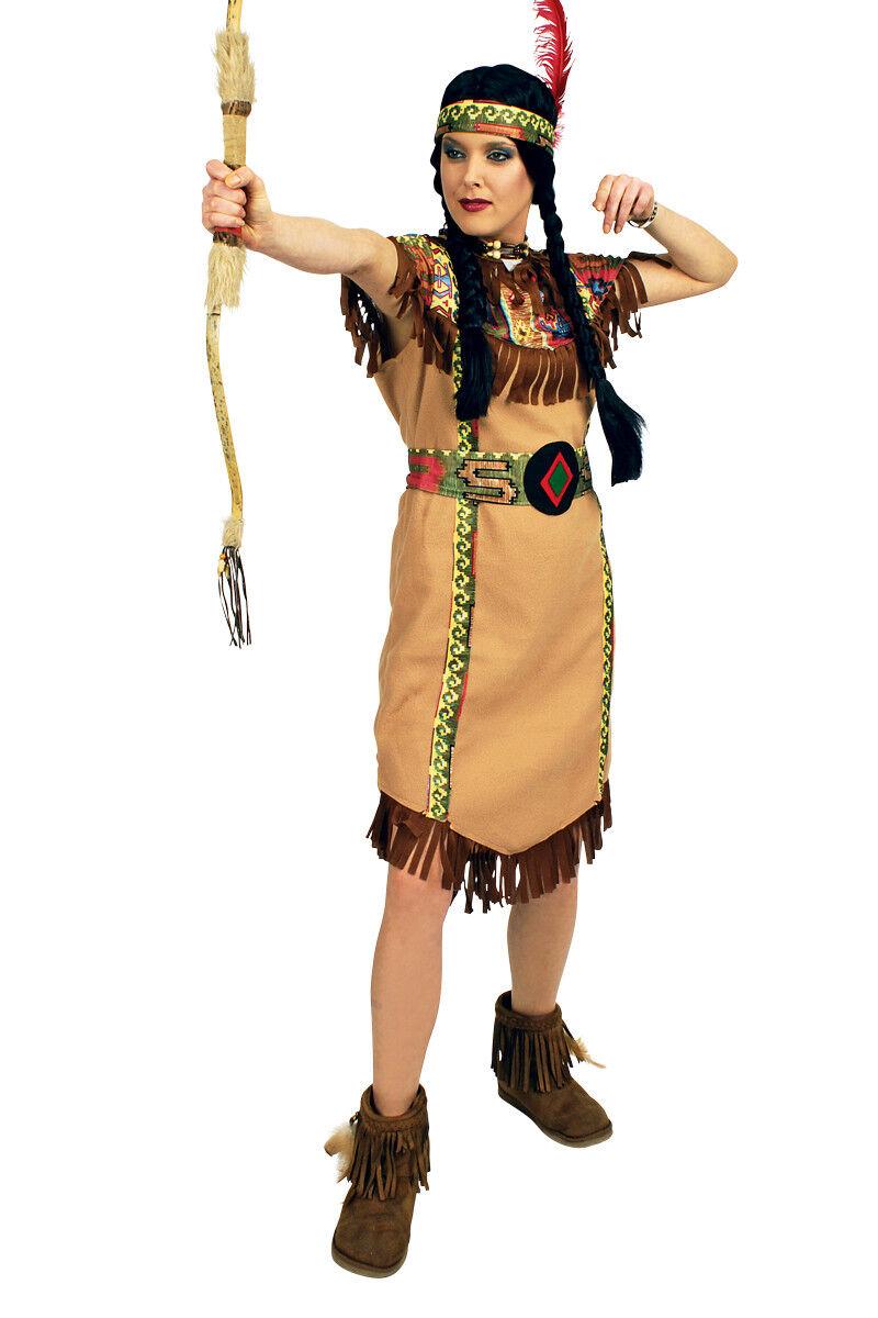 Indianerin-Kostüm Damen lang Indianer-Kostüm Wilder Westen Squaw Kinderkostüm       Geeignet für Farbe    Erlesene Materialien    Sehen Sie die Welt aus der Perspektive des Kindes  db4262