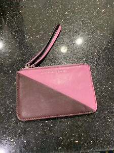 cc73668f14cf Image is loading MARC-JACOBS-Pink-Wine-Leather-Wristlet-Card-Holder