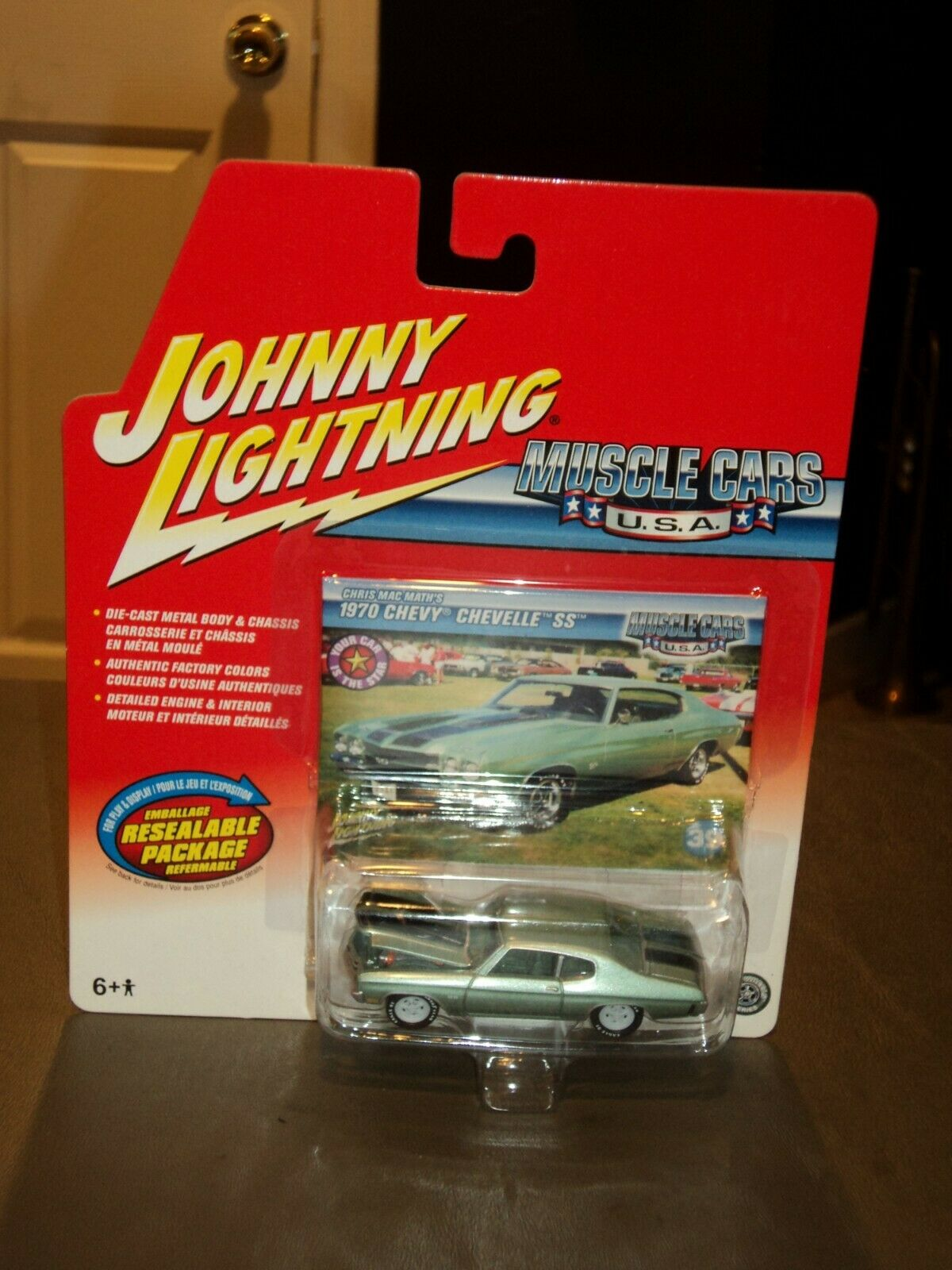 Johnny  WHITE Lightning  Muscle Cars USA 70 Chevy Chevelle SS CHASE 1970 Math's