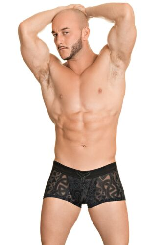 L/'Homme Invisible Men/'s Devore Tattoo V Boxer