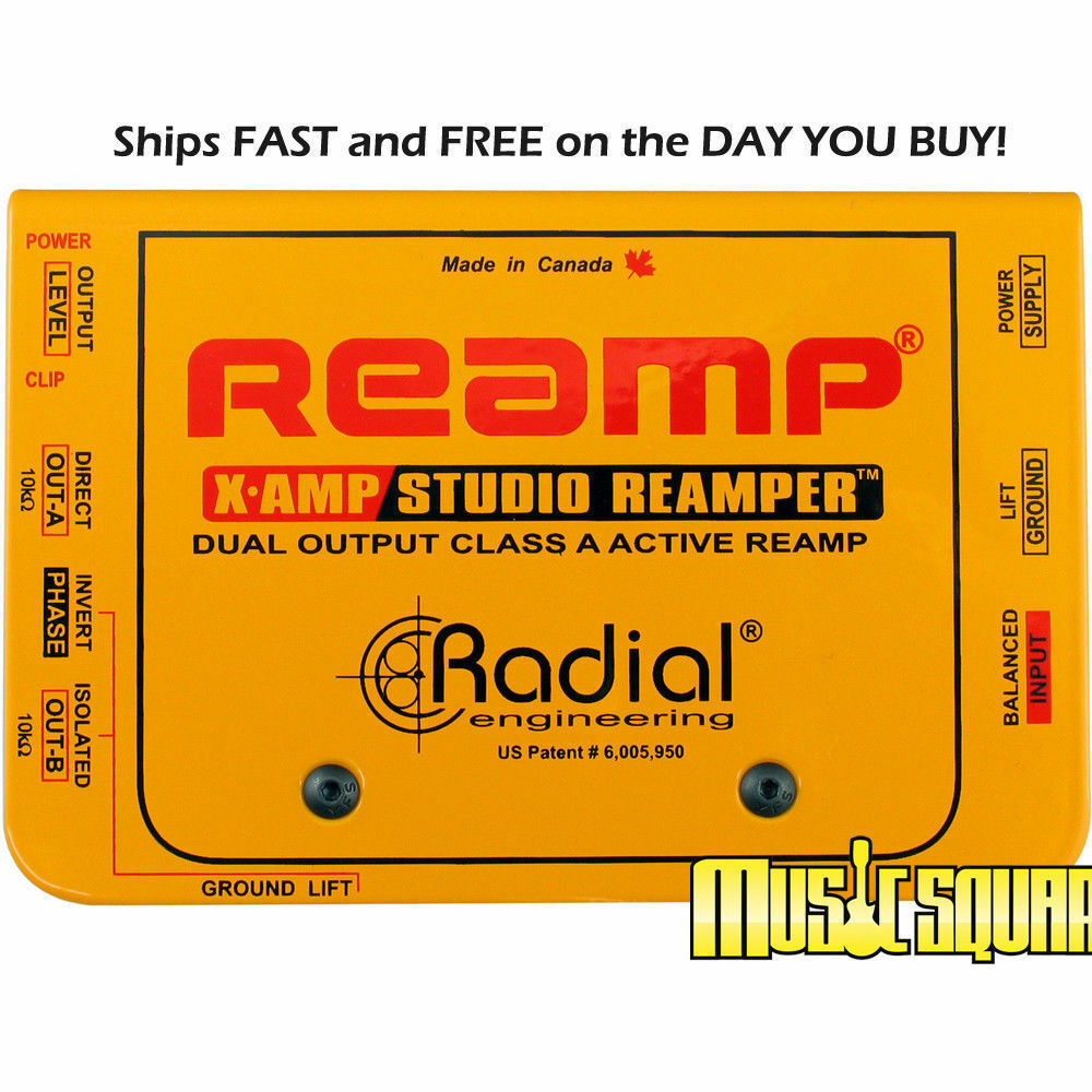 Radial X-Amp Reamplifier Re-amper Xamp Reamping ReAmper Device MAKE OFFER  NEW